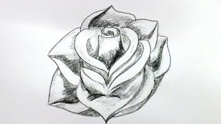 How To Draw A Rose Flower Step By Step (Very Easy Method)