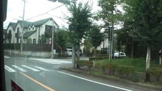 【HD車窓】ところバス南路線(所沢駅循環コース)西武園駅~所沢駅西口