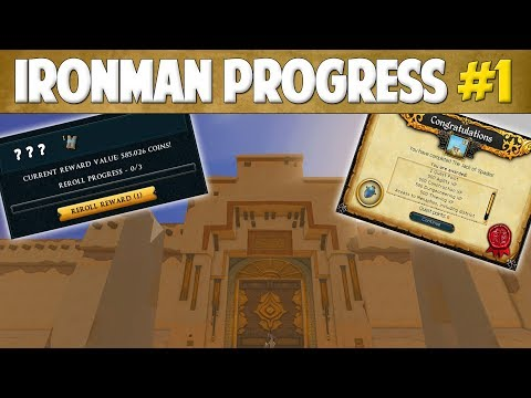 Runescape 2018 | Ironman Progress #1 - MASTER CLUE ALREADY!?