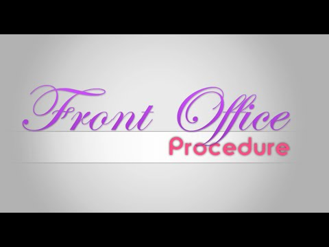 Front Office Procedures (ICI - BOMS)