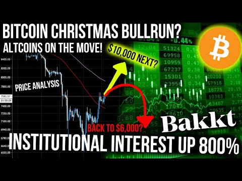 BITCOIN TO $10,000! BAKKT VOLUME UP 800% INSTITUTIONS ARE HERE! ALTCOIN BULLRUN SOON!