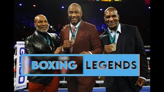 Lennox Lewis Evander Holyfield & Mike Tyson receive medals at Wilder Vs Fury 2