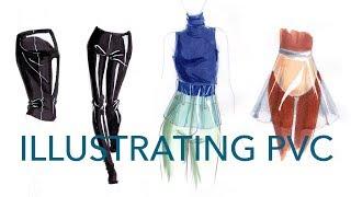 Fashion Illustration Tutorial: PVC/Clear Vinyl 4 Ways