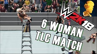 WWE 2K18 Exclusive Gameplay: 6 WOMAN TAG TLC MATCH w: Maryse, Alexa, Iconic, Mickie and Summer Rae