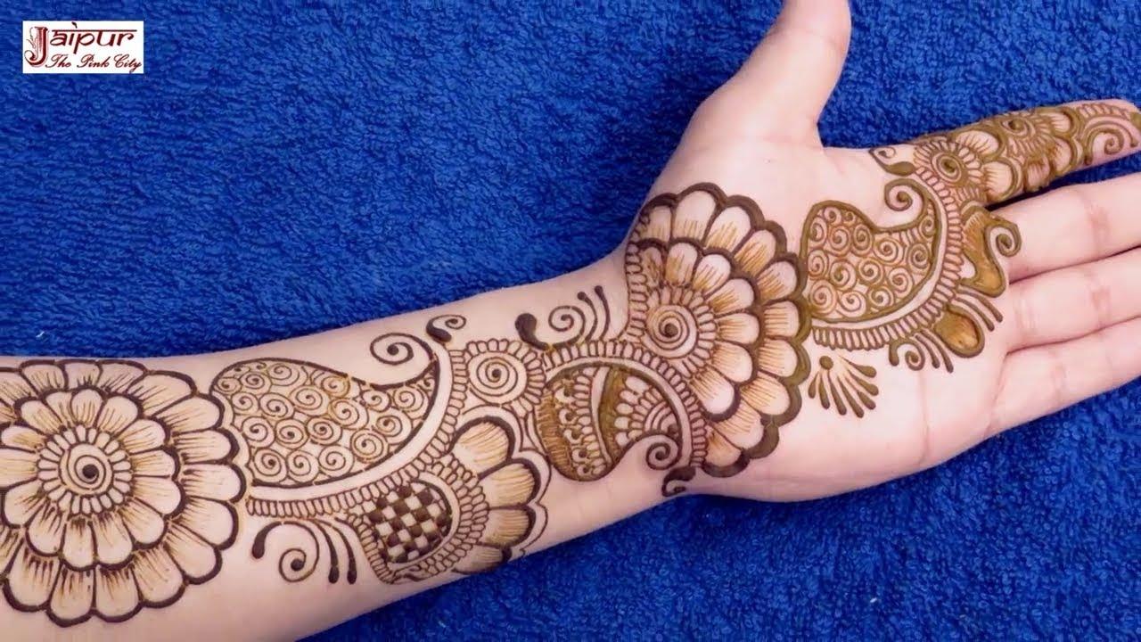stylish beautiful mehndi design