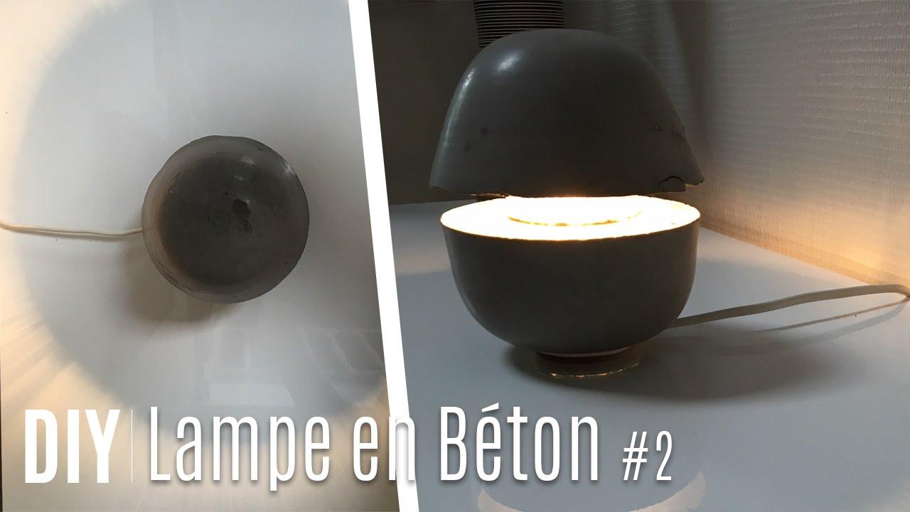 Fabriquer une lampe avec du béton 2