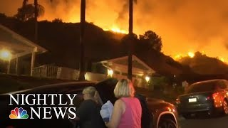 Wildfires Sweep Across The West | NBC Nightly News