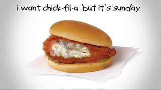 bobby bones the raging idiots chick fil a but its sunday lyric video