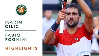 Marin Cilic vs Fabio Fognini - Round 4 Highlights I Roland-Garros 2018