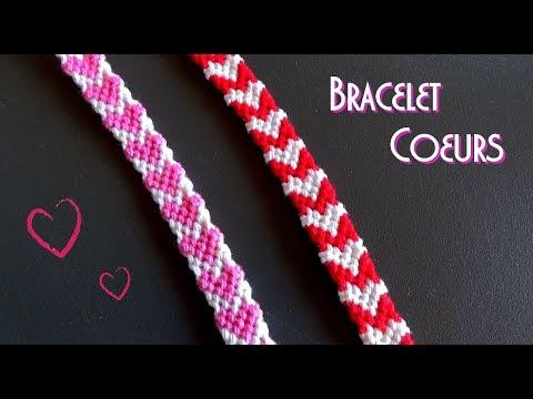 DIY Heart friendship bracelet / Intermediate level