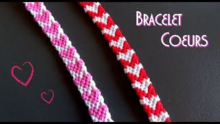 DIY Heart friendship bracelet / Intermediate level