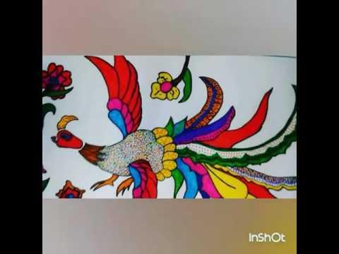 Batik Motif Burung Dan Bunga Youtube