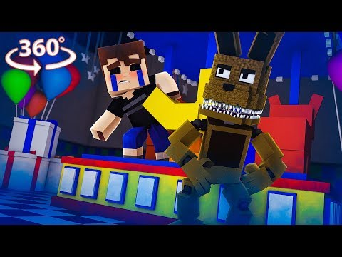 360° Five Nights At Freddy's - PLUSHTRAP VISION - Minecraft 360° VR Video
