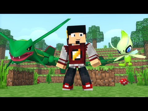 Minecraft: LIGA POKEMON #5 - RAYQUAZA ou CELEBI ‹ AM3NIC ›
