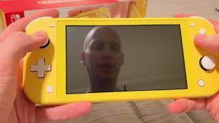 Yellow Nintendo Switch Lite Unboxing