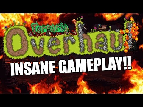 Terraria OVERHAUL!! Amazing NEW GAMEPLAY Mod for Terraria! (New Weapons and Accessory)