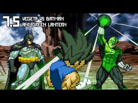 Vegeta (Below 1% Power) VS Green Lantern and Batman.