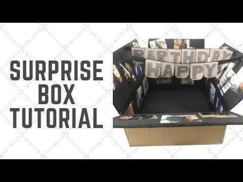 Birthday Surprise Box Tutorial | DIY
