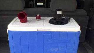 HOMEMADE AIR CONDITIONER EXPALINED.  (A LITTLE BETTER)