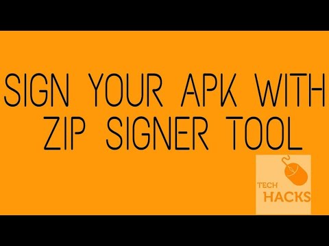 How to sign your apk with zipsigner tool! 100% working