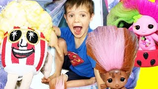 Whiffer Sniffers Toys Smell Challenge & ZELFS AllToyCollector Surprise Toys Blind Fold Challenge