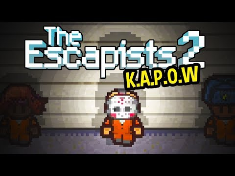 The Escapists 2 Gameplay LIVE - K.A.P.O.W MAP - Kapow Prison
