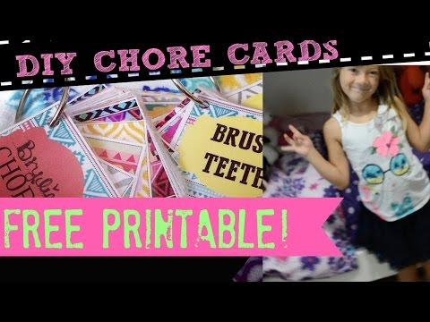 FREE DIY Chore Cards for Kids!