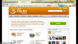 How to use openclipart.com