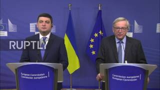Belgium  Visa liberalisation for Ukraine 'will happen before summer'   EU's Juncker