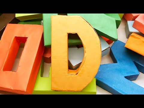 Origami Alphabet Letters D Making by Paper | 3D Letter DIY | 5 Minutes Crafts & Toys