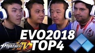 EVO 2018 KOF14 TOP4 FINALS (TIMESTAMP) XIAOHAI ET ZJZ HUEVO