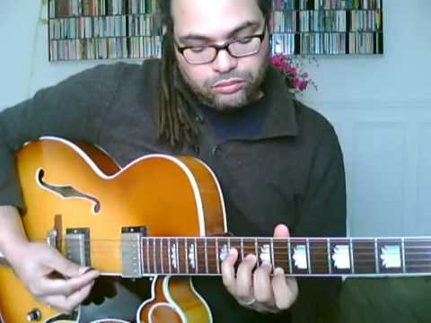 Jazz Guitar Chord Melody In A Sentimental Mood Youtube