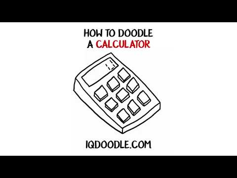 How to Draw a Calculator (drawing tips)