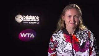 Aliaksandra Sasnovich post match interview (SF) | Brisbane International 2018
