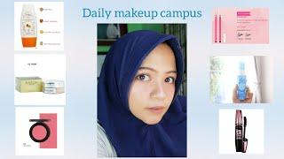 Tutorial daily make up untuk ngampus. Brand pixy, purbasari, platinum, maybelline dan focallure