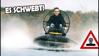 Unser Schlauchboot - HOVERCRAFT schwebt! | SELBSTGEBAUTES Amphibienfahrzeug!