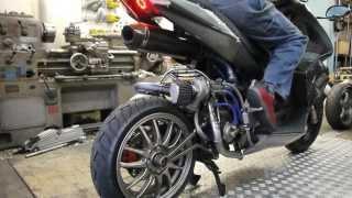 Derbi gp1 Turbo making moto デルビ バイク ターボ