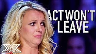 Video BRITNEY Fan Won't Leave After Audition Goes Wrong! | X Factor Global download MP3, 3GP, MP4, WEBM, AVI, FLV Juni 2018