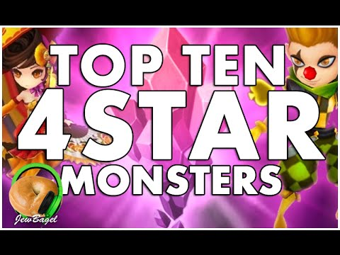 SUMMONERS WAR : TOP 10 NATURAL 4 STAR MONSTERS!!!