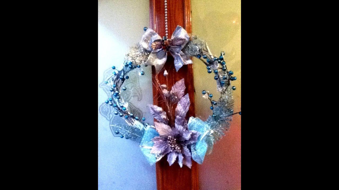 diy corona navide a ramas secas decoracion elegante list n