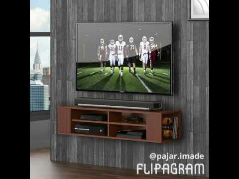 Fitueyes Wall Mounted Media Console Shelf ...