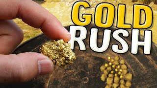 Panning For Gold Nuggets - The Start Of A Gold Mining Empire - Gold Rush The Game Season 2