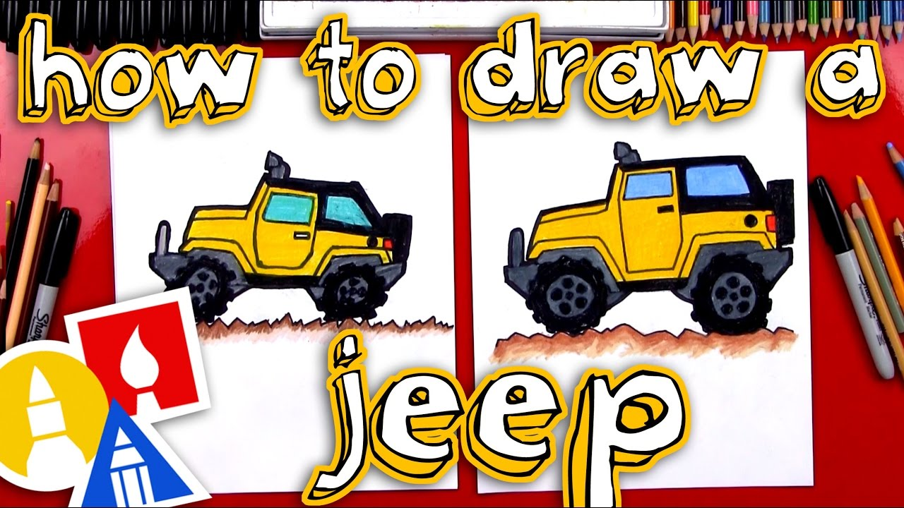 Coming Kids Jip.How To Draw A Jeep Youtube