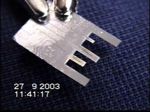 Joule heating Thin film NiTi/silicon beam B