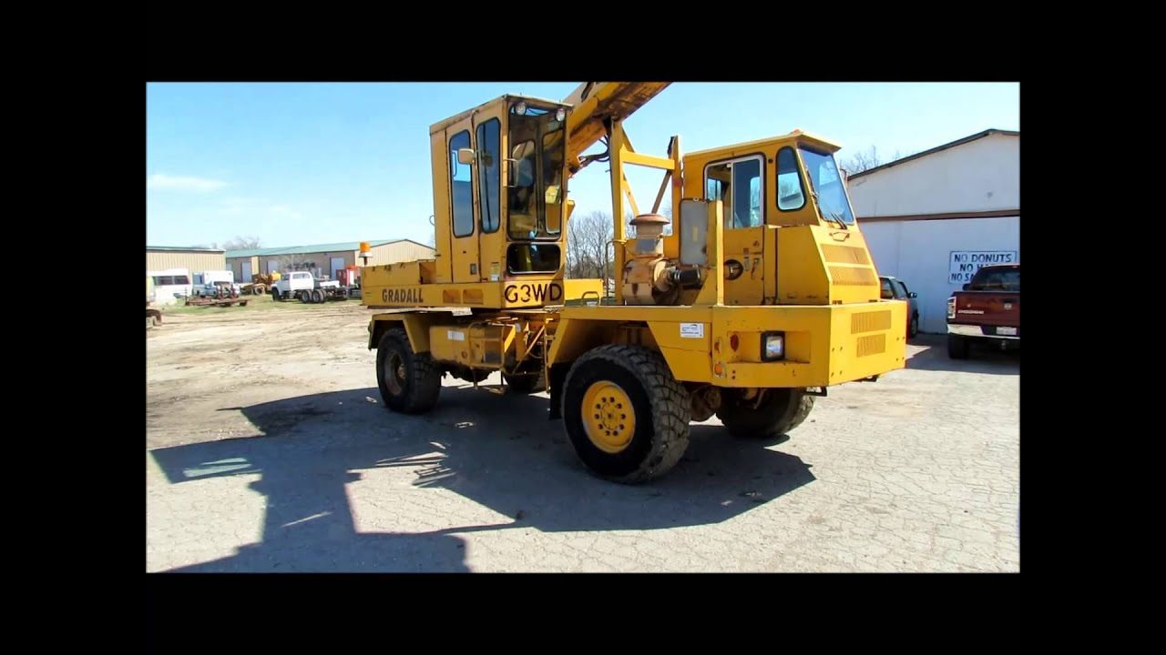 Gradall G3wd Rubber Tire Excavator For Sale Sold At