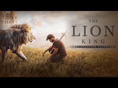 Lion King Manipulation Tutorial / Picsart Editing / Photo Manipulation / Background Change