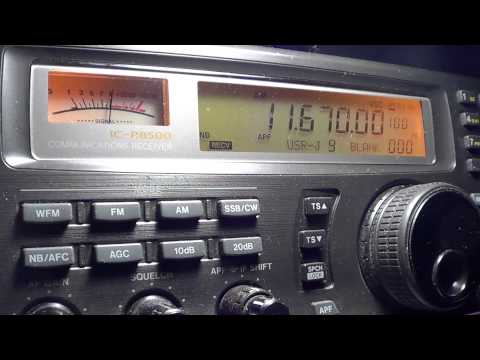 All India Radio News and commentary 11670 khz english