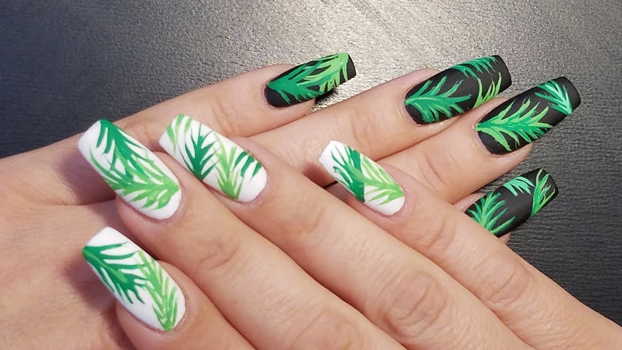 Tropical Nail Art 2017 By Lizy Youtube