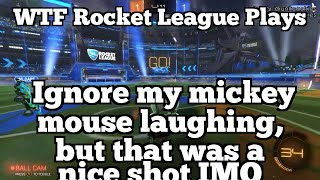 WTF Rocket League Plays: Ignore my mickey mouse laughing, but that was a nice shot IMO thumbnail
