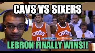 LEBRON FINALLY WINS A GAME!! Cleveland Cavaliers vs Philadelphia 76ers HIGHLIGHTS (REACTION)